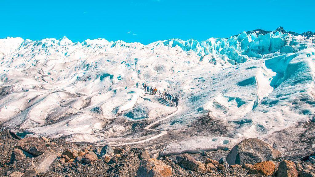 Caminar sobre el Glaciar